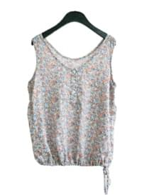 side string floral sleeveless (2colors)