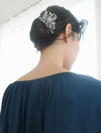 crystal flower tree hairpin