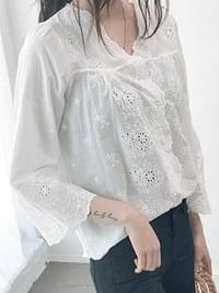 Eyelet cloud lace blouse