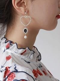 Bling Heart Jewelry Earrings