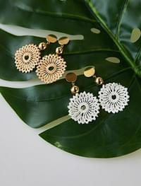 lace flower earring