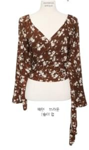 [TOP] GRACEFUL WRAP BLOUSE - 2 TYPE