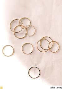 [JEWELRY] LAYERED GOLD RING 10 SET