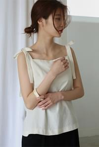 French shoulder tie sleeveless