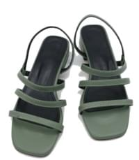 Three strap middle sandals