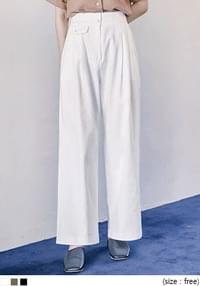 [BOTTOM] FLAP POCKET WIDE BANDING PANTS