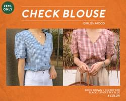 Icecandy-check blouse