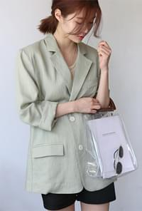 Over fit linen jacket