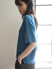 loose-fit slice cotton washing tee (5colors)