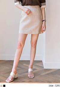 LINEN STITCH A LINE MINI SKIRT