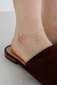 Silver small cubic point anklet(silver 925)