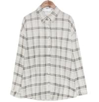 [TOP] GAUZE COTTON CHECK SHIRTS