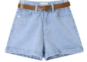 kid belt set denim pants (s, m)