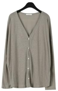 Loose fit linen cardigan
