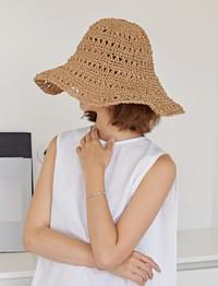 Cacao summer wire hat_K (size : one)