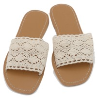 Lace punching slipper