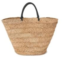 Wood paper big basket bag