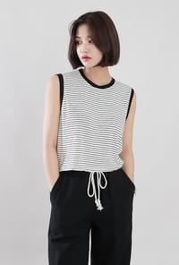 Rene striped linen nashi