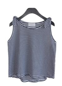 shoulder tie marine sleeveless (2colors)