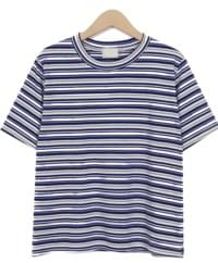 Twiddly stripe cotton T_H (size : free)