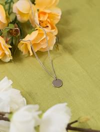 feminine mood simple coin necklace