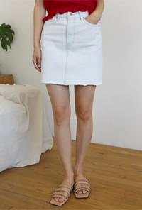 Ice color denim mini skirt