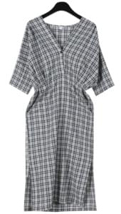 Ladyish deep check dress