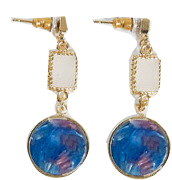 Colorful Marble Drop Earrings