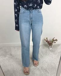 High Straight Denim Pants
