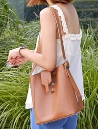 Solt buckle leather bag_S (size : one)