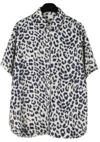 Leopard printed silky shirt