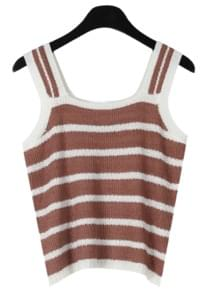 Bold line summer knit sleeveless