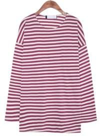 [TOP] DAILY STRIPE LOOSE FIT T - 2 TYPE