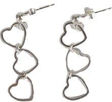 (silver925) heart dressy earrings
