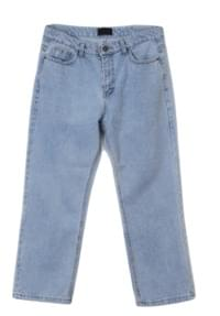 neat straight denim pants - UNISEX