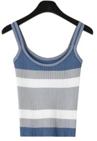 Color block golgi sleeveless