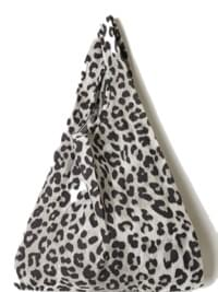 mini leopard tote bag