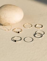 layered point 4ring set