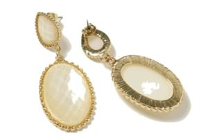 Antique crystal drop earring_S (size : one)