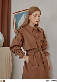 CARAMEL LOOSE FIT TRENCH COAT