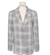 MUSE CHECK WRAP BUTTON JACKET