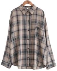 VINTAGE CHECK POCKET SHIRTS