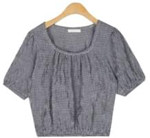 cherish square check blouse