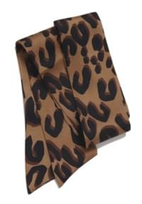 Leopard short twilly scarf_H (size : one)