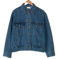 loose fit vintage denim jacket