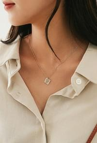 Cane Square Necklace
