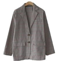 Viennese check jacket