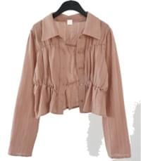 banding line collar blouse (2colors)