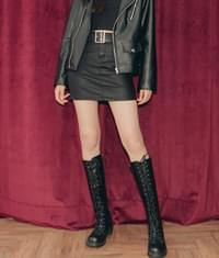 282 Leather day skirt