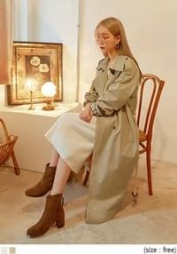 [OUTER] CHECK COMBINATION TRENCH COAT
